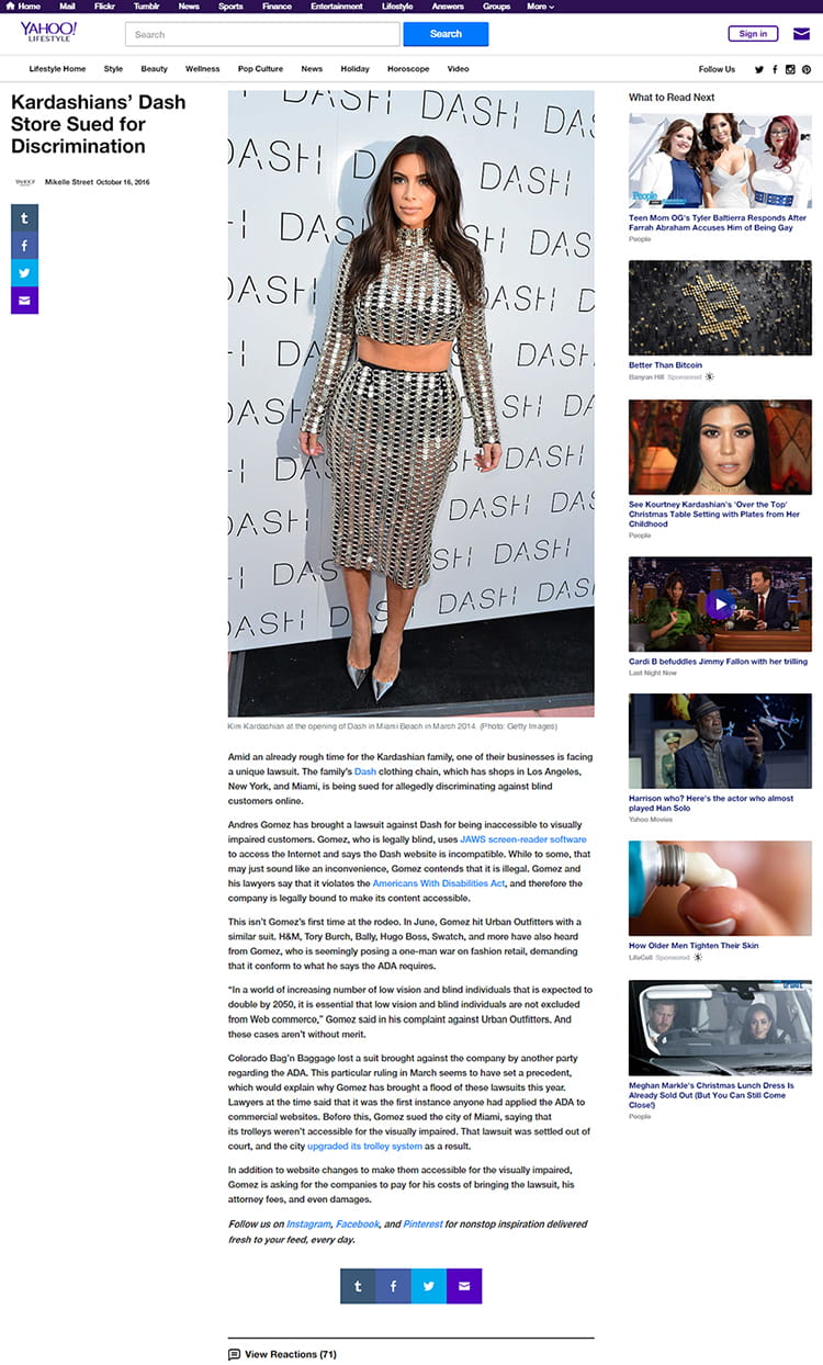 Yahoo Lifestyle - Kardashians' Dash Store Sued for Discrimination